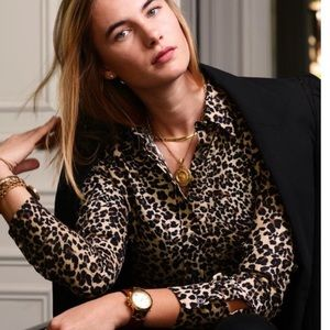 The Shirt by Rochelle Behrens Leopard Button Down